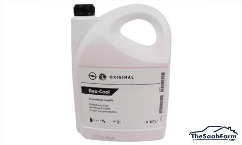 Koelvloeistof, 5L Geconcentreerd Saab 99, 90, 900 -93, 9000, 900 94-, 9-3 -03, 9-5 -10, 9-3 03-, 9-5 10-, Origineel