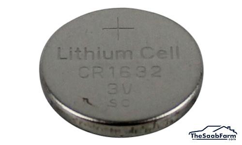 Batterij CR1632, Afstandsbediening Saab 9-3 -03, 9-5 -10