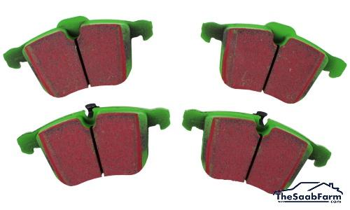 Remblokken (set) Voorzijde Saab 9-3 03-  314mm Schijven, EBC Greenstuff
