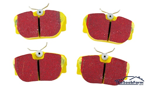 Remblokken (set) Voor Saab 900 88-93, 9000 Turbo 85-87, 9000i 86-89, EBC Yellowstuff