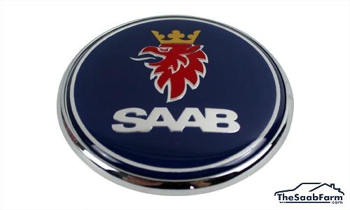 Embleem/Logo 'Saab' Motorkap Saab 9-5 -10, 9-3 03-, 9-4X, 9-7X