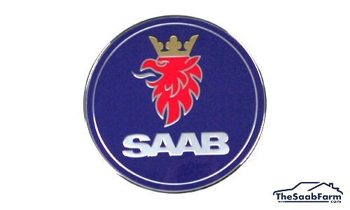Embleem/Logo 'Saab' Achterklep Saab 9-3 -03 5d , Origineel