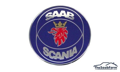 Embleem/Logo 'Saab-Scania' Achterklep Saab 9-5 -00 4d, Origineel