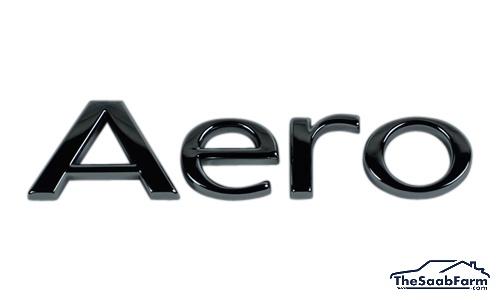 Embleem/Logo 'AERO' Achterklep Saab 9-5 02-10 5d 9-3 03-, Origineel