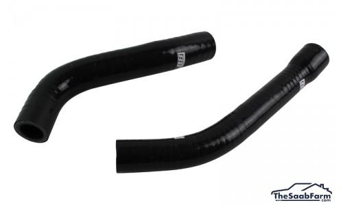 Slangen set, Stationair Regelventiel Silicone Zwart Saab 900 Turbo T16 90-93 Lucas Systeem, DO88