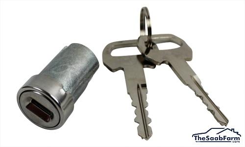 Cilinderslot met 2 Sleutels Saab 99 76-, 90, 900 -93, Origineel