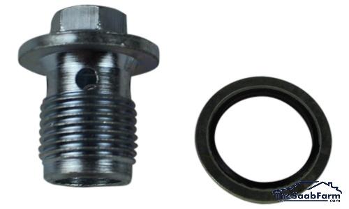 Olie Aftapplug met O-Ring Saab 9-5 06-, 9-3 05-, 9-5 10- TiD