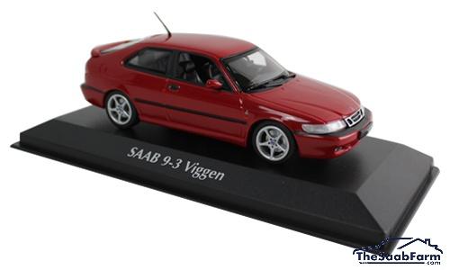 Saab 9-3 Viggen 1999 Rood, Maxichamps 1:43