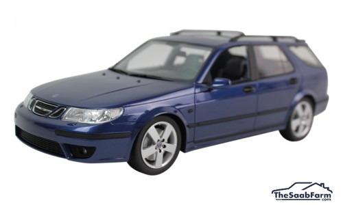 Saab 9-5 SportCombi Aero 2005 Cosmic Blue, DNA Collectibles 1:18