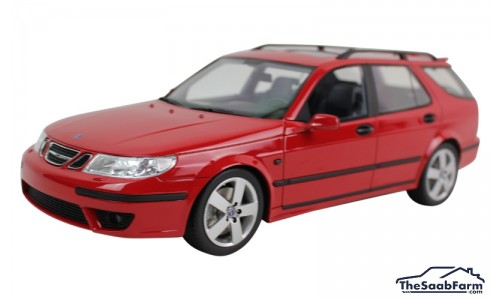 Saab 9-5 SportCombi Aero 2005 Laser Red, DNA Collectibles 1:18