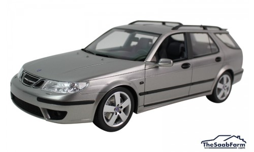 Saab 9-5 SportCombi Aero 2005 Steel Grey Metallic, DNA Collectibles 1:18