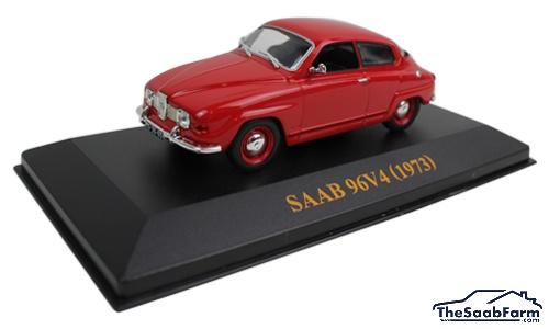 Saab 96 V4 1973 Rood, IXO 1:43
