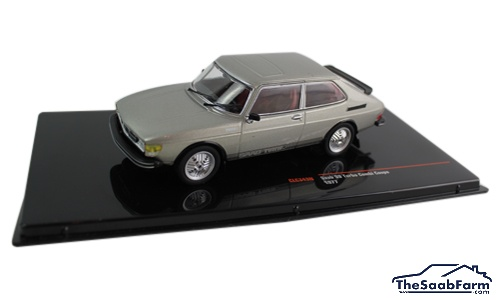 Saab 99 Turbo Combi Coupé 1977 Grijs Metallic, IXO 1:43