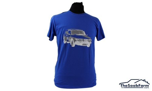 T-shirt Saab 99 Rally Blauw